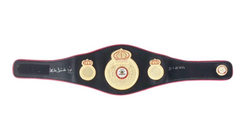 WBA Belt Signed by Michael Spinks