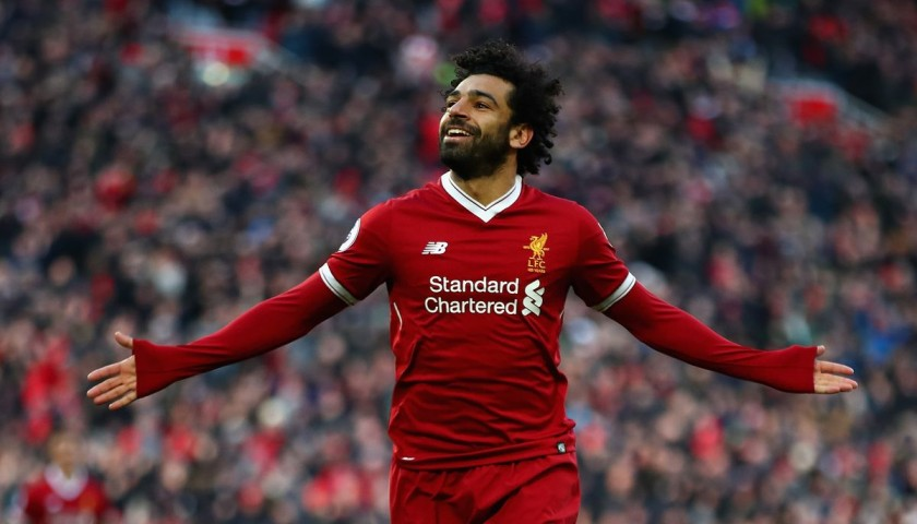 Mohamed Salah Signed 125 Home Shirt