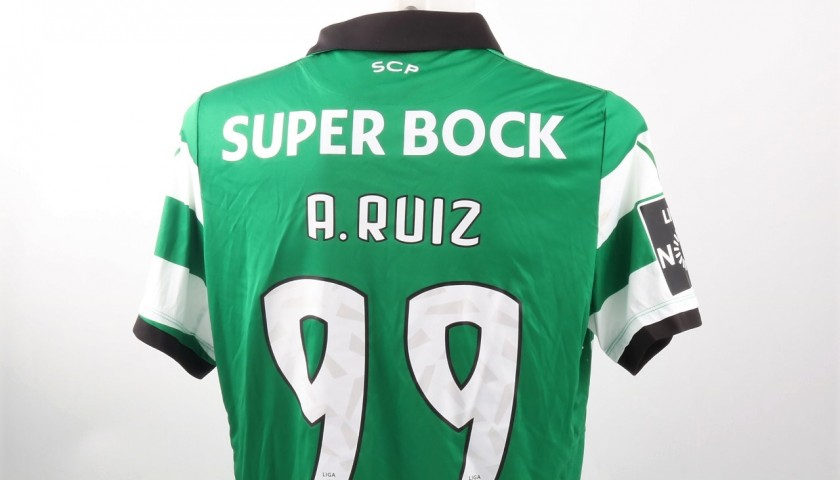 Alan Ruiz Match Worn Shirt, Estoril-Sporting CP 25/02/2017