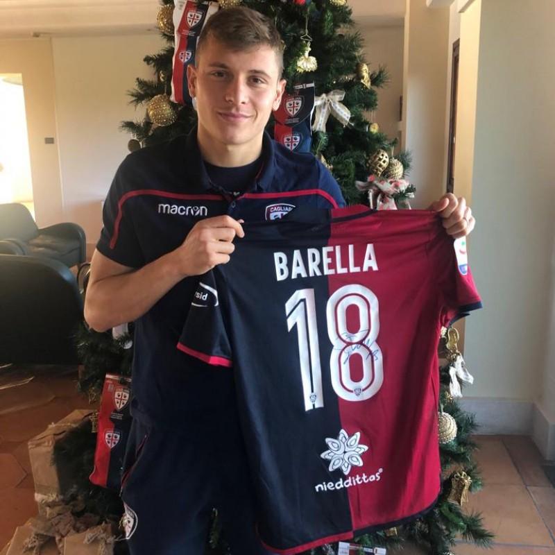 Cagliari Festive Shirt - Worn and Signed by Barella