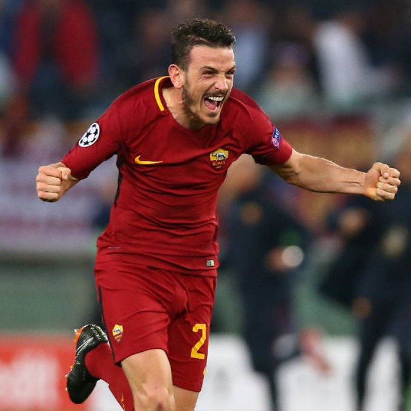 Florenzi's AS Roma Match-Issued Shirt, UCL 2017/18