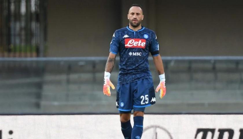 Ospina's Napoli Worn and Signed Shorts, Napoli-Sassuolo 2020