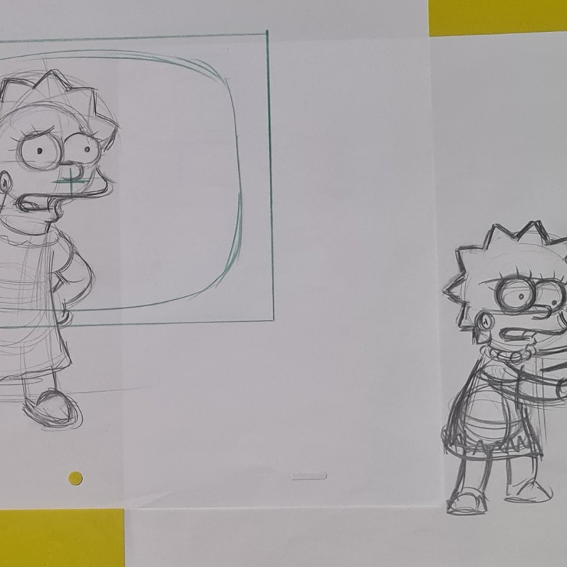 The Simpsons - Original Drawings of Lisa Simpson
