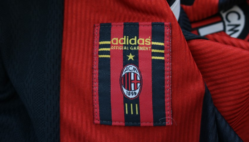 Maldini's AC Milan Match Shirt, Serie A 1998/99
