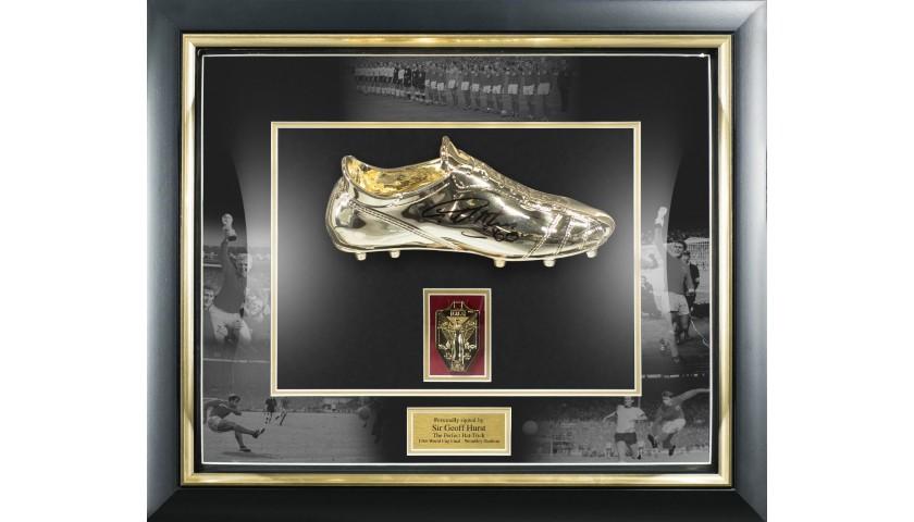 Hurst Signed Golden Boot in Dome Frame