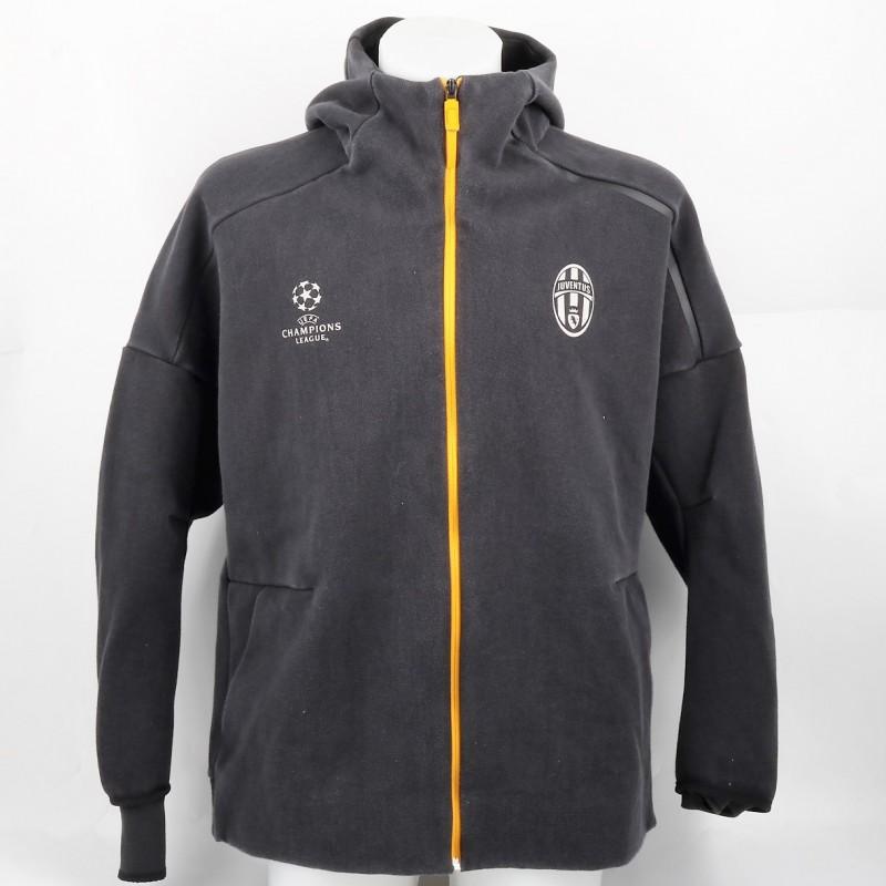 Higuain's Juventus Pre-Match, Worn Sweatshirt, UCL 2016/17
