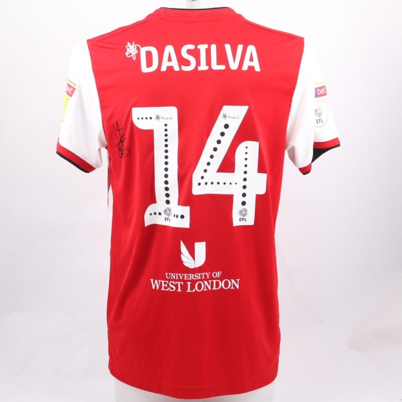 Da Silva's Brentford Worn and Signed Poppy Shirt