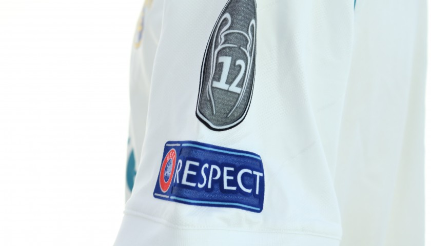 Benzema's Real Madrid Match-Issued Shirt, Kiev 2018 Final