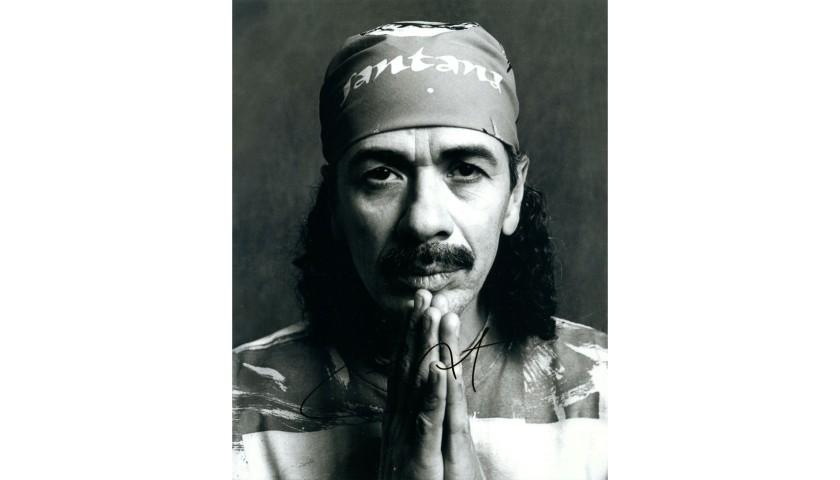 Carlos Santana Hand Signed Photograph