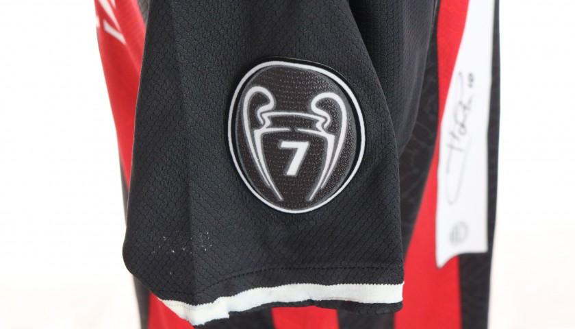 Calhanoglu's Worn and Signed Shirt, Milan-Crotone 2021