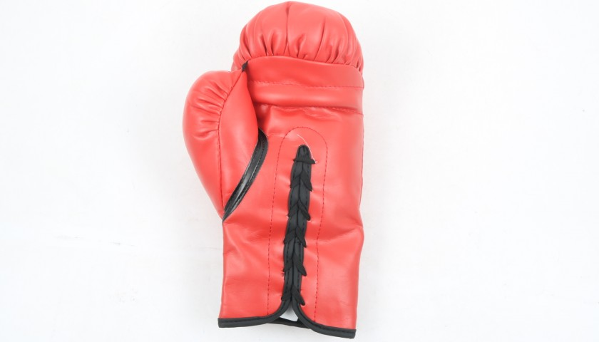 Red Everlast Boxing Glove Signed by Mike Tyson