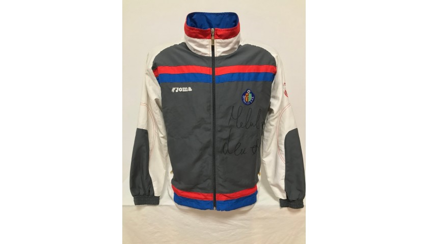 Getafe Football Official Jacket Signed by Michael Laudrup