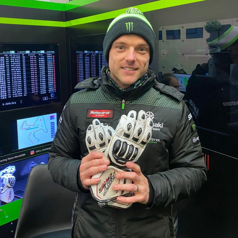 Rst Tractech Evo R Racing Gloves Worn and Signed by Alex Lowes