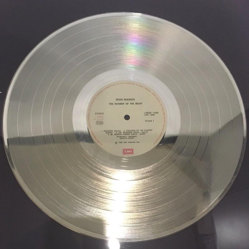 Unique 1984 Iron Maiden Silver Disc Presented to Eddie