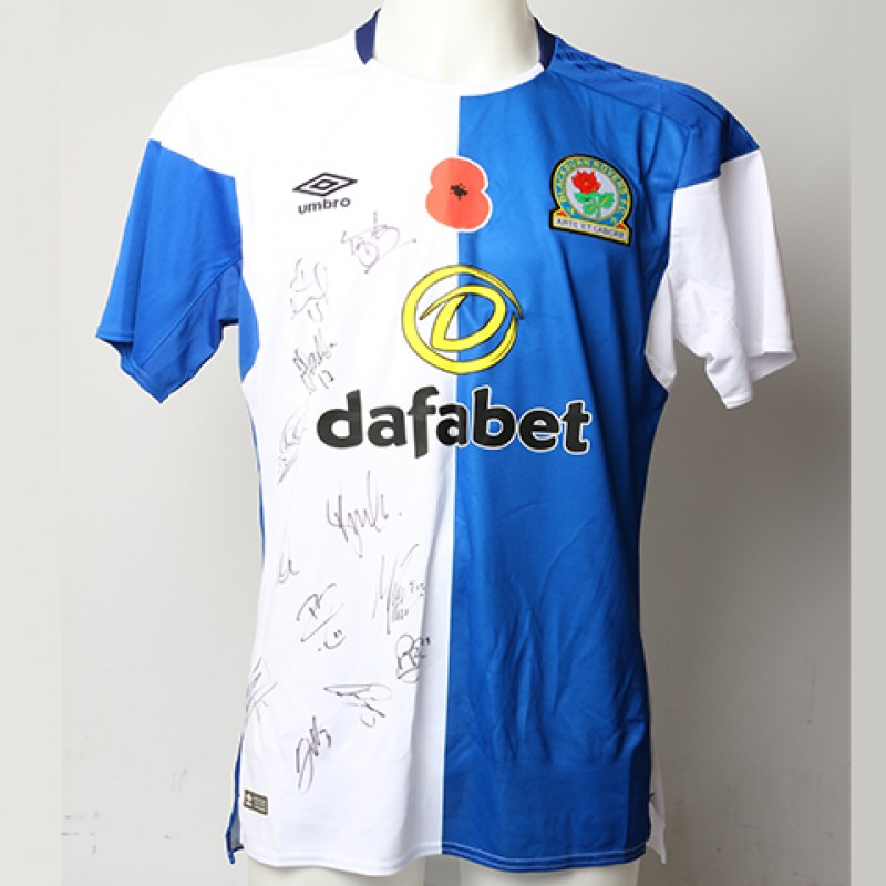 Poppy Shirt Signed by Blackburn Rovers F.C.