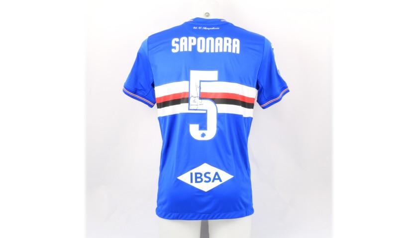 Saponara's Sampdoria Match-Issue Signed Shirt, 2018/19