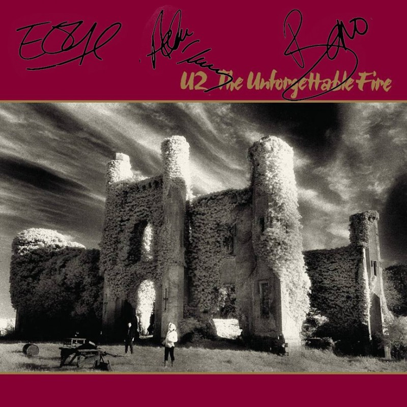 "U2 ""The Unforgettable Fire"" Album with Printed Signatures"