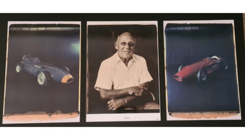 Limited Edition Sir Stirling Moss Signed Polaroid Collection