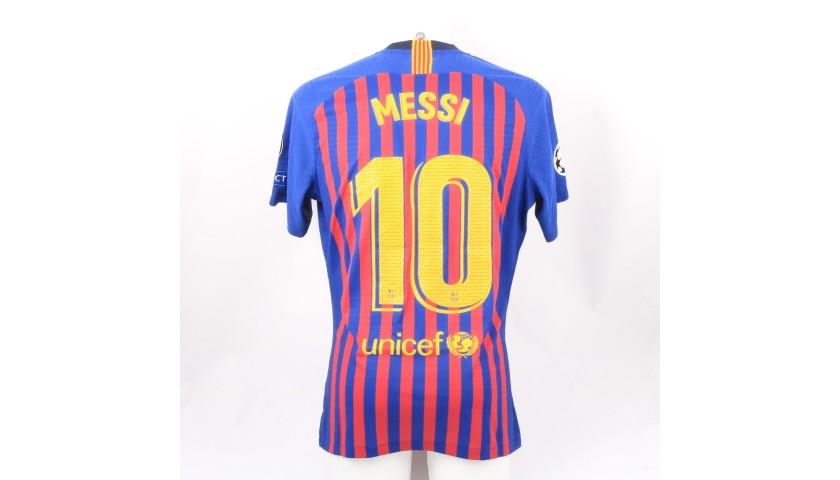 Messi's Barcelona Match Shirt, UCL 2018/19