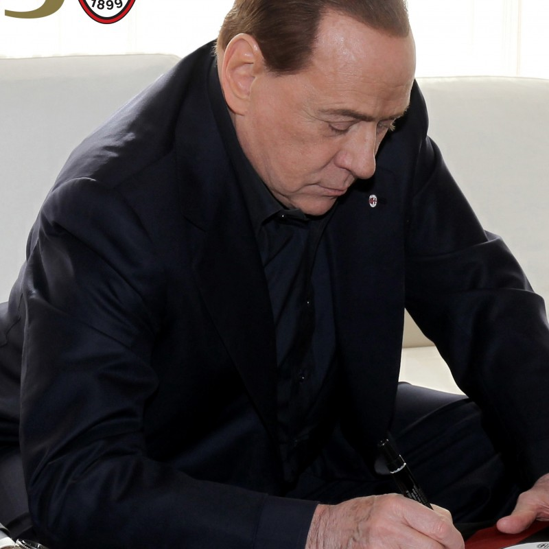 Berlusconi 30th Anniversary Celebrative Milan Shirt - Signed