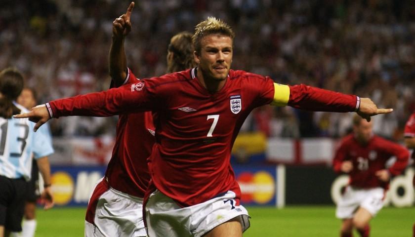 Beckham's Official England Signed Shirt, 2006/2007