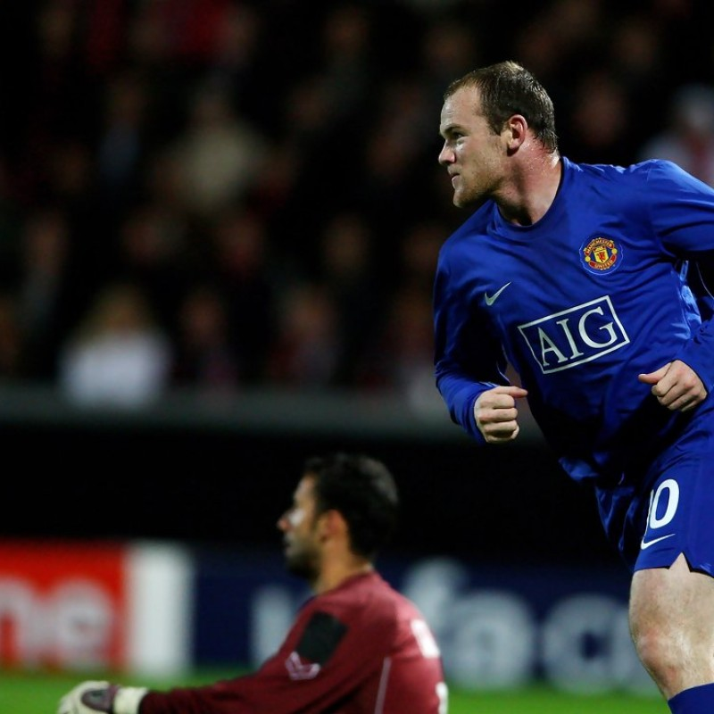 Rooney Manchester United shirt, issued/worn C.League 07/08