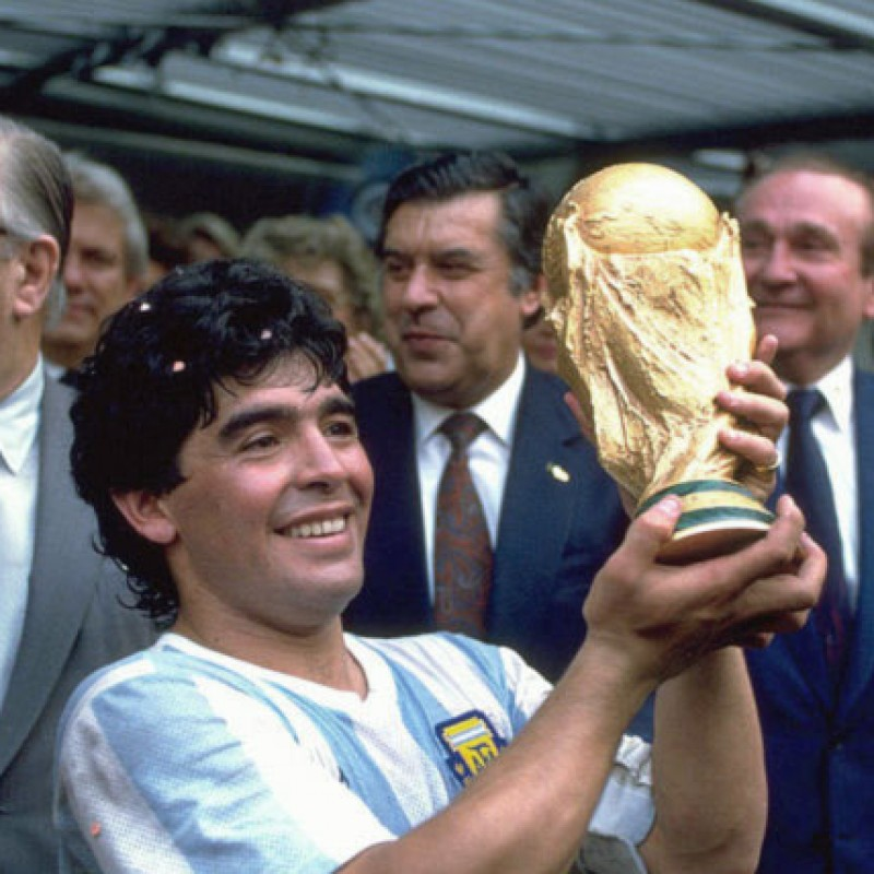 Maradona Signed Replica World Cup