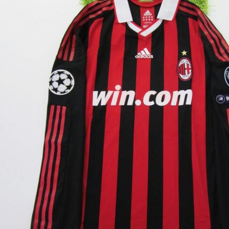 Nesta match issued/worn shirt, Real Madrid-Milan, Champions League 2009/2010