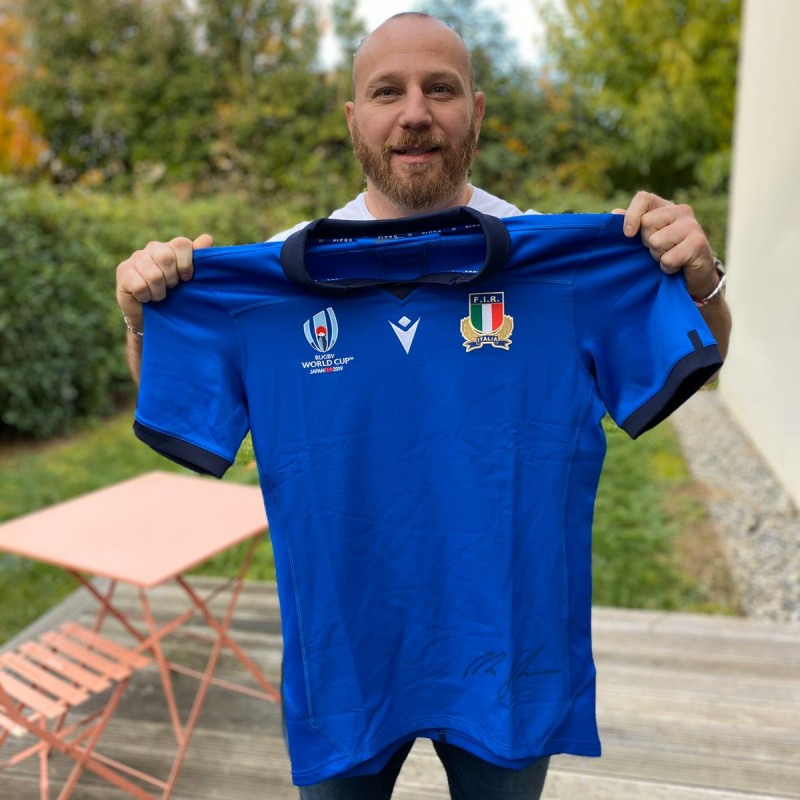 Ghiraldini's Italy Signed Rugby Kit, Italy-New Zealand 2019