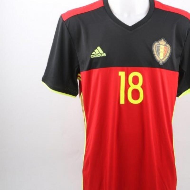 Nainggolan Belgium match issued shirt, friendly match 2015
