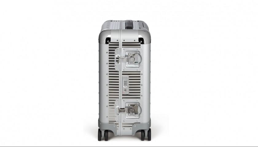Bank Reflective Steel Suitcase