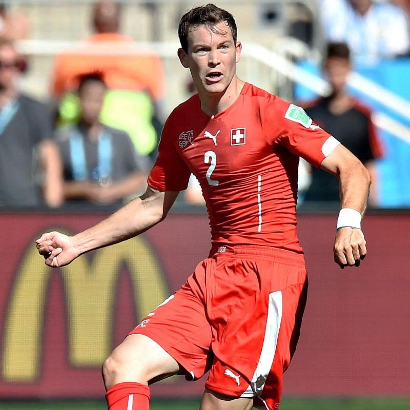 Lichtsteiner's Switzerland Issued Shirt, 2014 World Cup