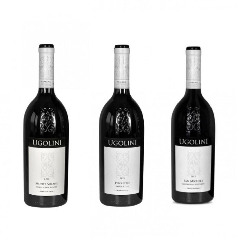 Three Bottles of Valpolicella from Cantina Ugolini