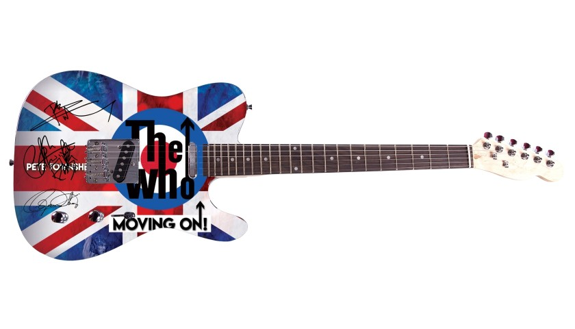 """The Who"" Custom Graphics Guitar"