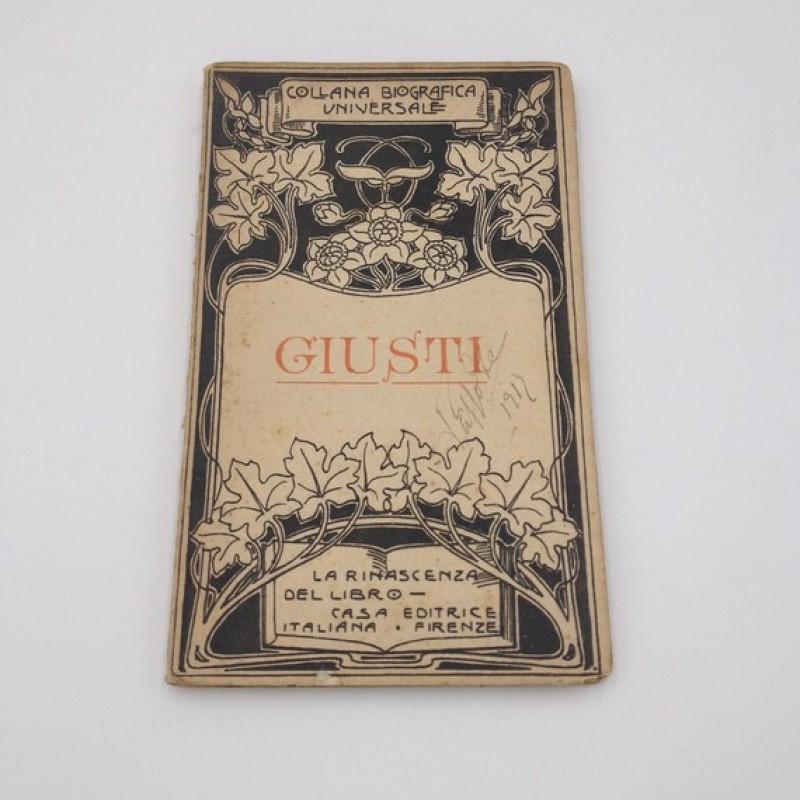 """""""Giuseppe Giusti"""" - Giosue Carducci, 1910"""