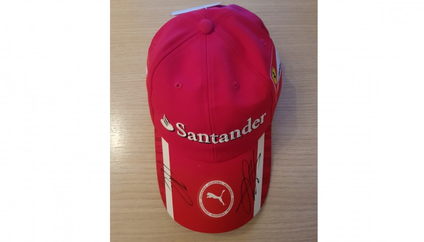 Official Ferrari Cap Signed by Sebastian Vettel and Kimi Raikkonen ... d862b9c8e857