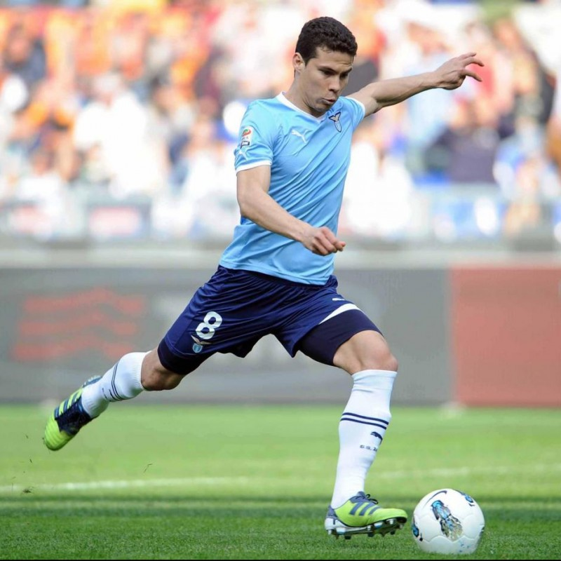 Hernanes' Lazio Match-Issue/Worn Shirt, 2011/12