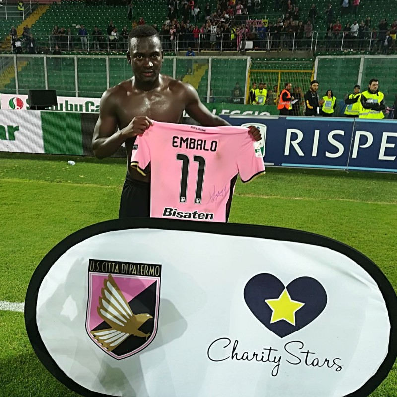 Embalo's Match-Worn and Signed Shirt from Palermo-Pro Vercelli 2017/18