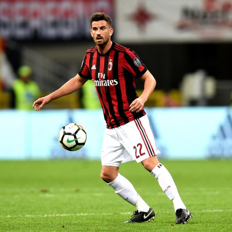 Musacchio's Match-Worn Milan-Inter Shirt with Special Patch