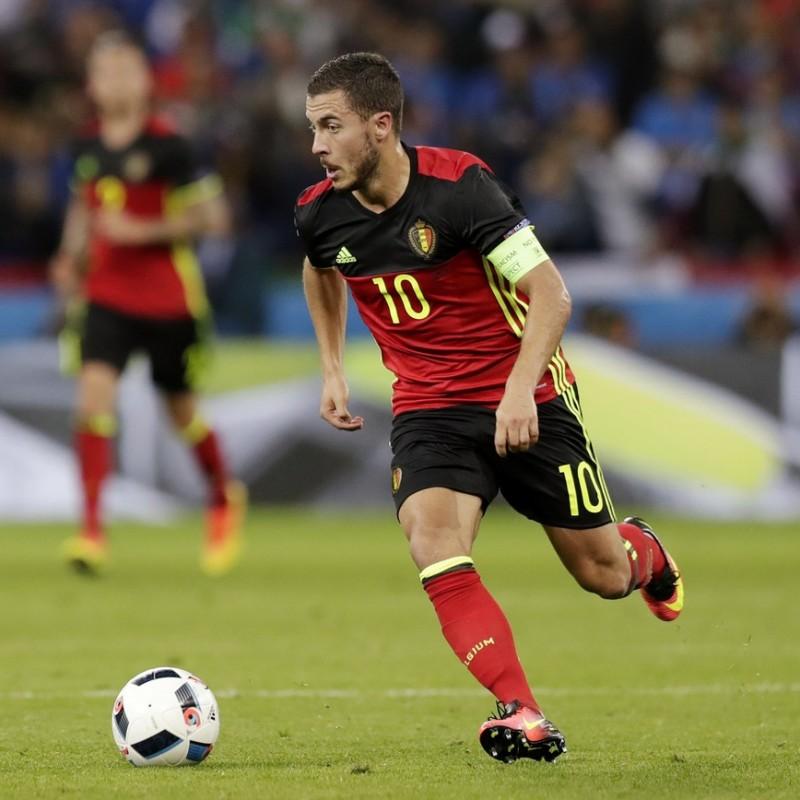 Hazard's Official Belgium Signed Shirt, 2016