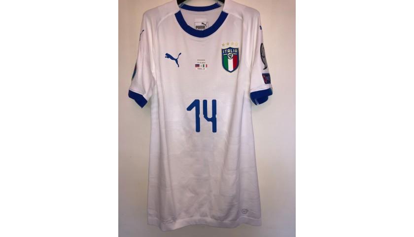 Tonali's Match Shirt, Liechtenstein-Italy 2019