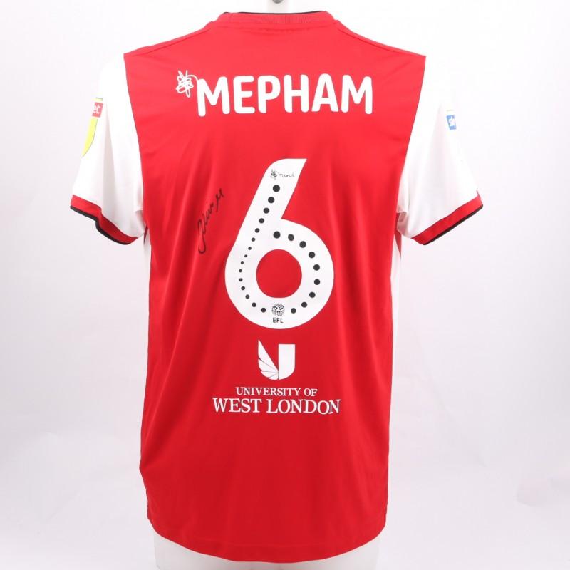 Mepham's Brentford Worn and Signed Poppy Shirt