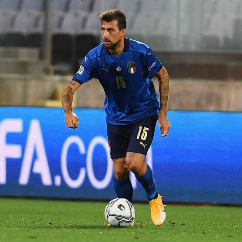 Acerbi's Match Shirt, Italy-Bosnia 2020