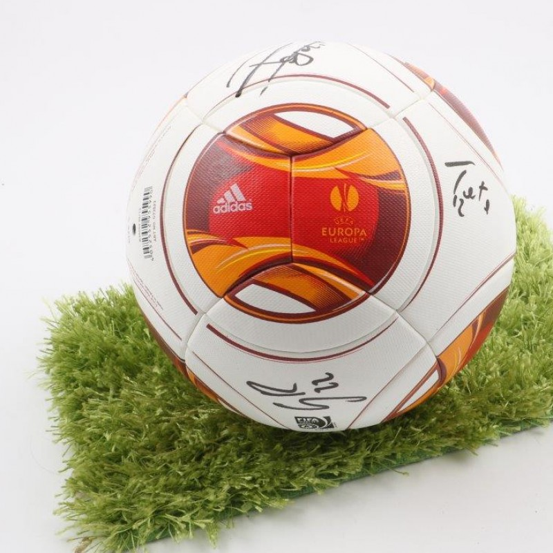 Official Europa League 2014/2015 ball, signed by Fiorentina players