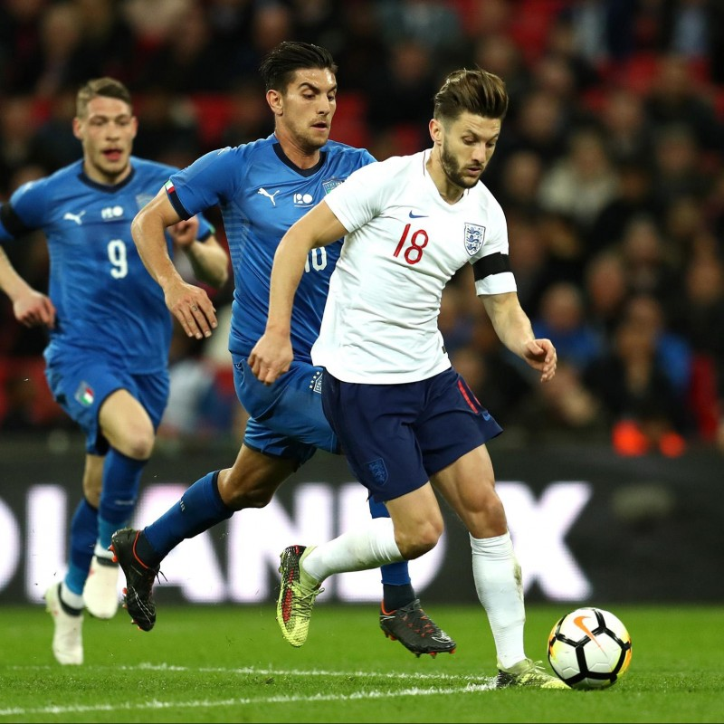 Lallana's Worn and Unwashed England-Italy 2018 Shirt
