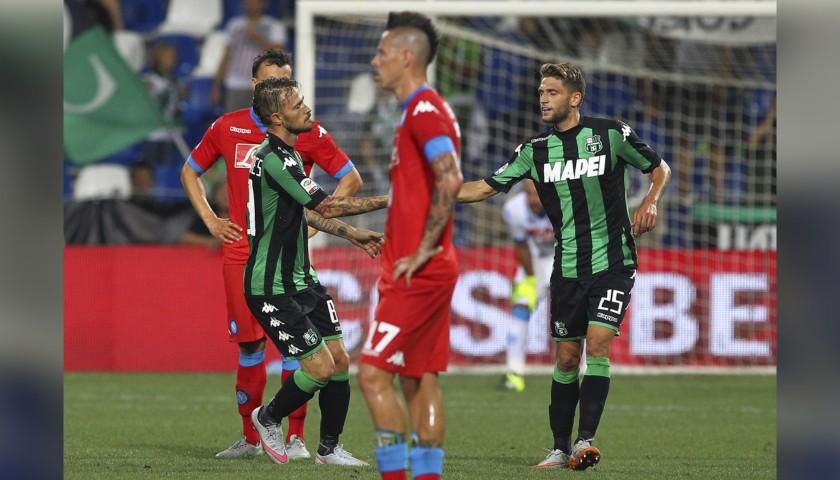 Floro Flores' Worn and Signed Shirt, Sassuolo-Napoli 2015