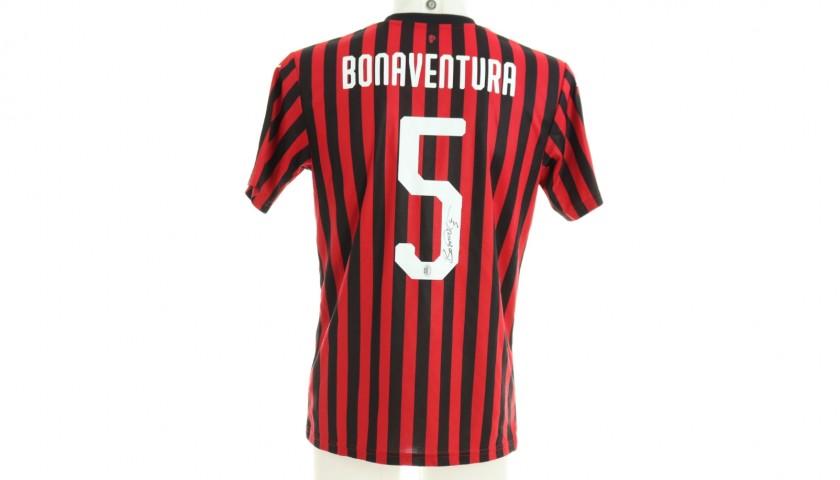 """Bonaventura's Worn Shirt,  Juventus-Milan - """"Andrà Tutto Bene"""""""