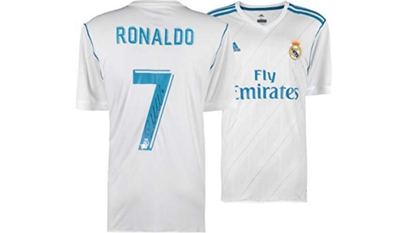 Cristiano Ronaldo Hand Signed Authentic Real Madrid Fc Jersey Charitystars