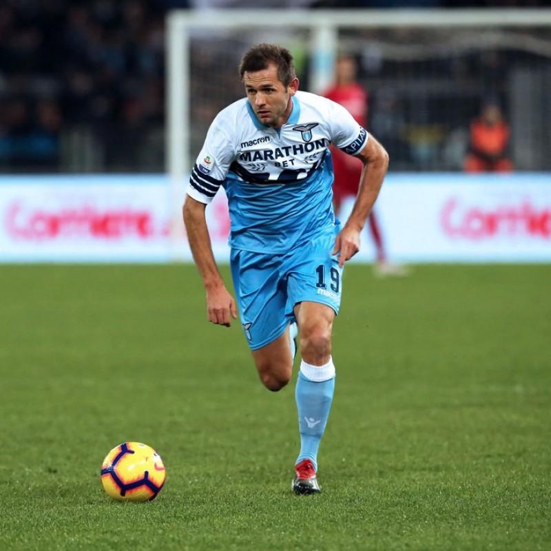 Lulic's Lazio Signed Match Shirt, Serie A 2018/19