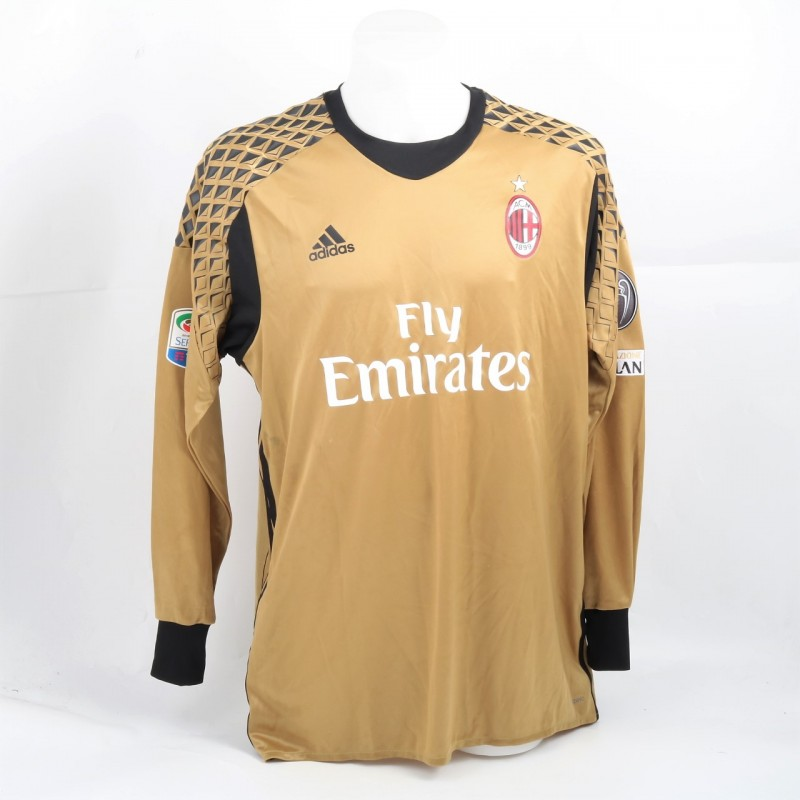 Gabriel Match-Issued Shirt, AC Milan-Inter 2016 - Signed